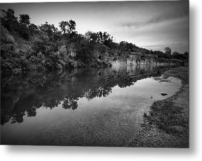 The Blue Hole Metal Print by Linda Unger
