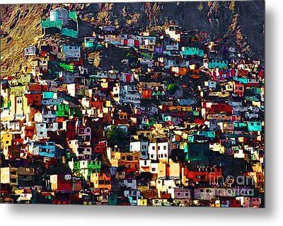 The City On The Hill V1 Metal Print by Wingsdomain Art and Photography