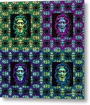 The Four Medusas 20130131 Metal Print by Wingsdomain Art and Photography