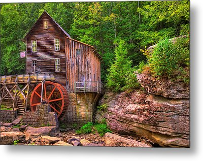 The Glade Creek Grist Mill Metal Print by Gregory Ballos