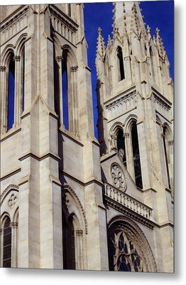 The Heights Of The Cathedral Basilica Of The Immaculate Conception Metal Print by Angelina Vick