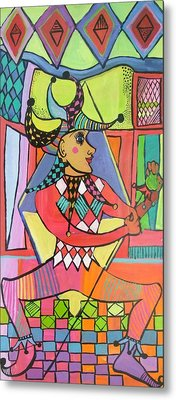 The Jester Metal Print by Janet Ashworth
