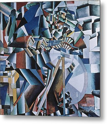 The Knife Grinder Metal Print by Kazimir  Malevich