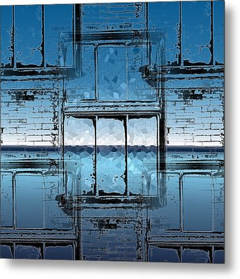 The Looking Glass Reprised Metal Print by Tim Allen
