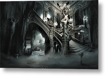The Mind Cave Metal Print by George Grie
