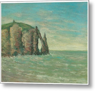 The Needle At Etretat Metal Print by Claude Emile Schuffenecker