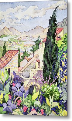 The Old Town Vaison Metal Print by Julia Gibson