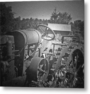 The Old Tractor Metal Print by Michael Allen