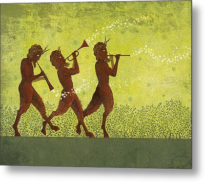 The Pipers 3 Metal Print by Dennis Wunsch