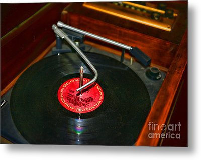 The Record Player Metal Print by Paul Ward