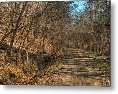 The Road Goes Ever On Metal Print by William Fields