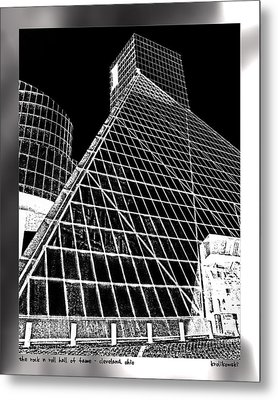 The Rock Hall Cleveland Metal Print by Kenneth Krolikowski