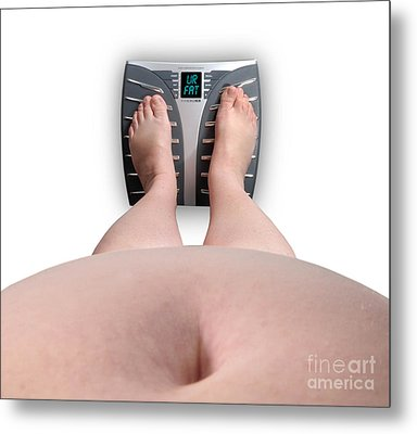 The Scale Says Series Ur Fat Metal Print by Amy Cicconi