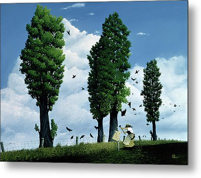 The Seeds Metal Print by Stephane Poulin