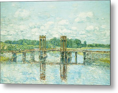 The Toll Bridge New Hampshire Metal Print by Childe Hassam