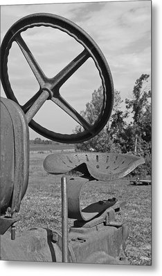 The Tractor Seat Metal Print by Heather Allen