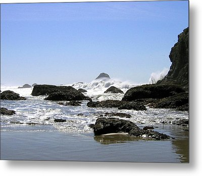 The Untamed Sea Metal Print by Will Borden