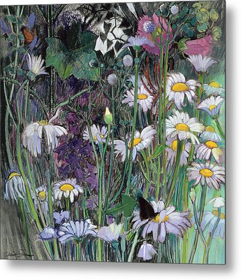 The White Garden Metal Print by Claire Spencer