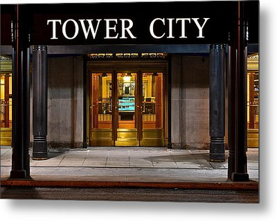 Tower City Cleveland Ohio Metal Print by Frozen in Time Fine Art Photography