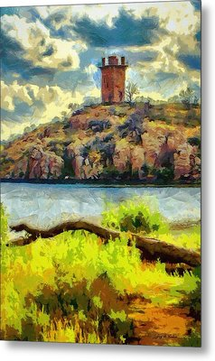 Tower On The Bluff Metal Print by Jeff Kolker
