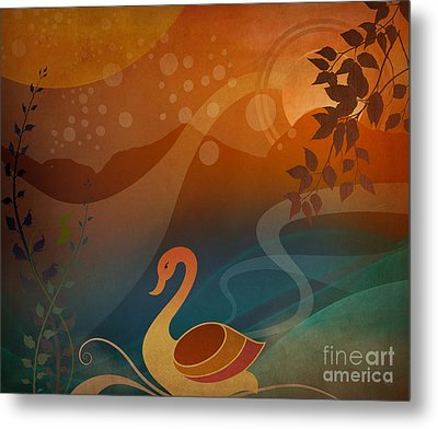 Tranquility Sunset Metal Print by Bedros Awak
