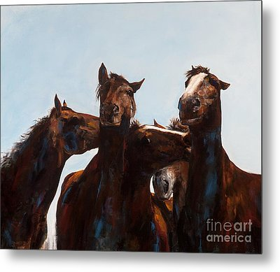 Trouble Makers Metal Print by Frances Marino
