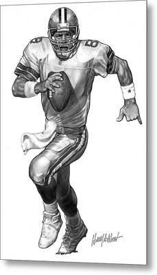Troy Aikman Metal Print by Harry West