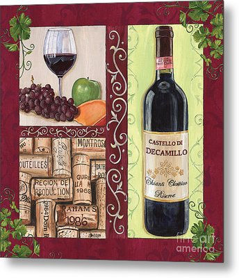 Tuscan Collage 2 Metal Print by Debbie DeWitt