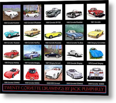 Twenty Corvettes Metal Print by Jack Pumphrey