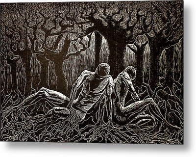 Uprooted Metal Print by Maria Arango Diener