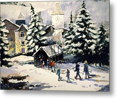 Vail Covered Bridge Metal Print by Patty  Frierson