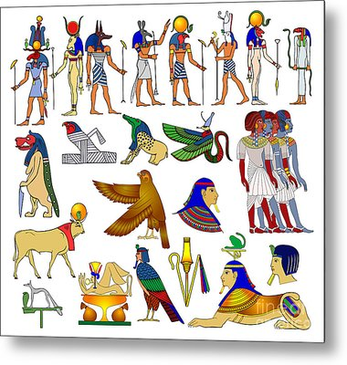Various Themes Of Ancient Egypt Metal Print by Michal Boubin