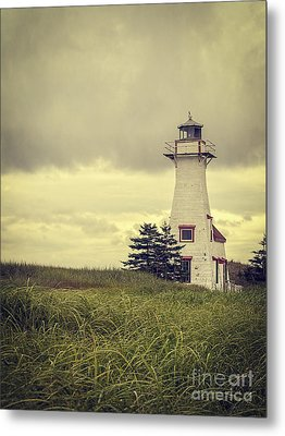 Vintage Lighthouse Pei Metal Print by Edward Fielding