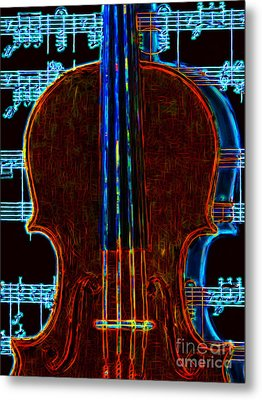 Violin - 20130128v1 Metal Print by Wingsdomain Art and Photography