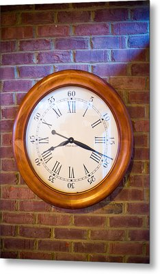 Wall Clock 1 Metal Print by Douglas Barnett
