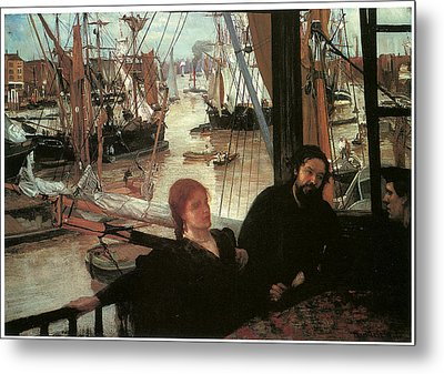 Wapping Metal Print by James Abbott McNeill Whistler