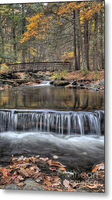 Waterfall - George Childs State Park Metal Print by Paul Ward