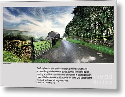 Wensleydale Road Metal Print by Mike Hoyle