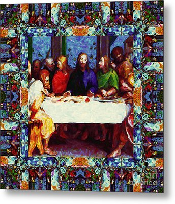 Window Into The Last Supper 20130130p0 Metal Print by Wingsdomain Art and Photography