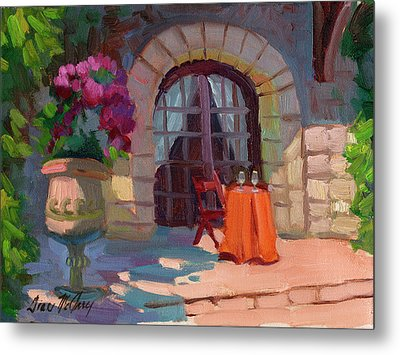 Wine For Two Metal Print by Diane McClary
