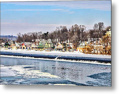 Winter At Boathouse Row In Philadelphia Metal Print by Simon Wolter