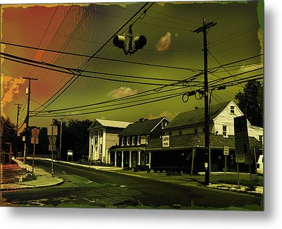 Wires In The Sky Metal Print by Alexei Biryukoff