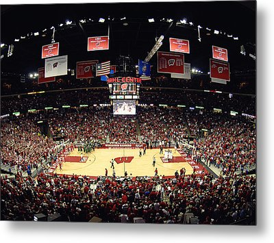 Wisconsin Badgers Kohl Center Metal Print by Replay Photos