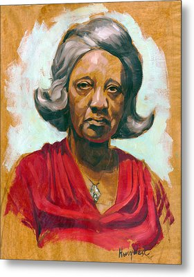 Woman Of Color Metal Print by Harry West