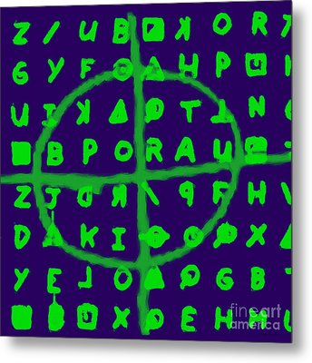 Zodiac Killer Code And Sign 20130213p128 Metal Print by Wingsdomain Art and Photography