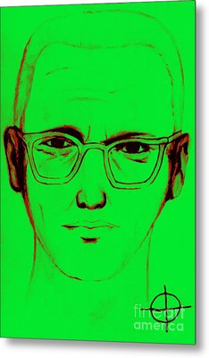 Zodiac Killer With Sign 20130213 Metal Print by Wingsdomain Art and Photography