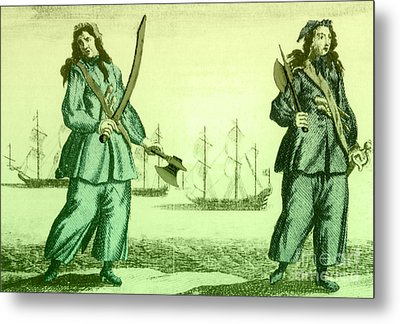 Anne Bonny And Mary Read, 18th Century Metal Print by Photo Researchers