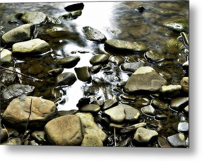Creekstones Metal Print by Mary Frances