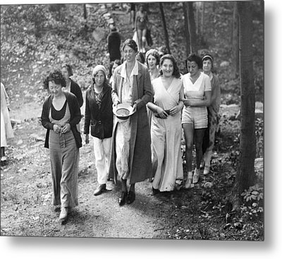 First Lady Eleanor Roosevelt Visits Metal Print by Everett