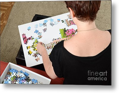 Puzzle Therapy Metal Print by Photo Researchers, Inc.